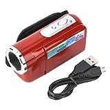 Elprico Digitale Videokamera, 16X DV Camcorder Videokamera, Tragbarer Videokamera Camcorder mit TFT LCD Bildschirm Kinder(rot)
