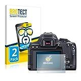 BROTECT Schutzfolie kompatibel mit Canon EOS 850D (2 Stück) klare Displayschutz-Folie