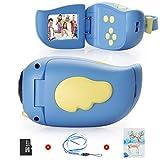 Kinderkamera Digitalkamera, Vannico Kids Camera Videokamera 8 Megapixel, Kinder Camcorder Geschenk für Mädchen Jungen mit 16G TF Karte und Weihnachtskarte (Blau)