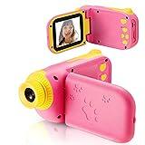 vatenick Kinder Kamera Spielzeug Kleinkind Kamera 2.4 Inch Bildschirm 1080P Fotografie stoßfeste Kamera mit 32 GB TF-Karte Geschenke Spielzeug für 3 bis 12 Jahre alte Jungen und Mädchen (rosa)