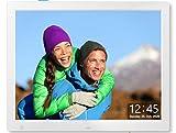 Cytem 15 Zoll Digitaler Bilderrahmen   4:3 HD-IPS Display (1024x720)   Bewegungssensor   Transparente Datum-Uhr   korrekte Bilddrehung und Größenanpassung   Gemischte Diaschau   min.10.000 Fotos   Si.