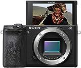 Sony Alpha 6600 | APS-C Spiegellose Kamera ( Schneller 0,02s Autofokus, optische 5-Achsen-Bildstabilisierung im Gehäuse, 4K HLG Videoaufnahmen, neigbares Display für Vlogging)