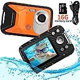 PELLOR Kinder Digitalkamera, 2,8' LCD HD Wiederaufladbare Mini-Kamera Kinderkamera Wasserdicht Spielzeug Sportkamera Camcorder mit 16GB MicroSD für Indoor Outdoor