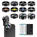 Apexel 11-in-1-Handy Kamera-Objektiv Set - Weitwinkelobjektiv und Makroobjektiv + Fischaugenobjektiv