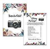 50 Karten Fotospiel Hochzeit Fotosafari Postkartenspiel Hochzeit Gastgeschenk Hochzeitsgäste (BOHO Hochzeit)
