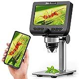 LCD Digital Mikroskop,YINAMA 4,3 Zoll 2 Megapixel 1000X Vergrößerung Zoom Drahtlose USB-Stereo-Mikroskopkamera,kompatibel mit iPhone,Android, iPad, PC, MAC und Windows(32GTF-Karte)