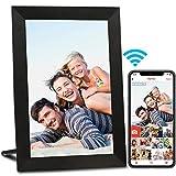AEEZO WiFi Digitaler Bilderrahmen 9 Zoll IPS Touchscreen, Automatische Drehung, Einfache Einrichtung zur Gemeinsamen Nutzung von Fotos und Videos, 16 GB Wandmontierbarer Digitale Bilderrahmen(Schwarz)