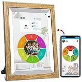 WiFi digitaler Bilderrahmen, YENOCK 10.1'Touchscreen mit Bewegungssensor 1280 * 800 Eingebauter 16 GB Speicher Hoch- und Querformat Foto und Video Über App/Facebook/Twitter/E-Mail/Twitter/Email
