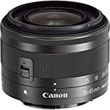 Canon Zoomobjektiv EF-M 15-45mm F3.5-6.3 IS STM Weitwinkel für EOS M (49mm Filtergewinde, Bildstabilisator, Autofokus), schwarz