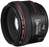 Canon Objektiv EF 50mm F1.2L USM für EOS (Festbrennweite, 72mm Filtergewinde, Autofokus), schwarz