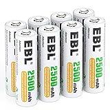 EBL AA Akku 2500mAh - wiederaufladbare AA Batterien Typ NI-MH 8 Stück, 1.2V Mignon Akkubatterien