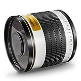 Walimex Pro 500mm 1:6,3 DSLR Spiegel-Teleobjektiv für Canon EF Objektivbajonett weiß ( für Vollformat Sensor gerechnet, Filterdurchmesser 34mm, inkl. Schutzdeckel)