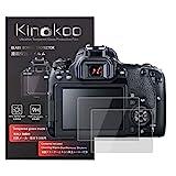 kinokoo Gehärtetes Glas für Canon EOS 90D/70D/EOS 77D/EOS 80D/EOS 700D/EOS 750D/EOS 760D/EOS 800D Kristallklarer Film Canon 77D Displayschutzfolie Blasenfrei/Kratzfest(2er Pack)