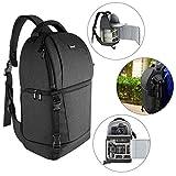 Neewer Kameratasche-Kameratasche mit gepolsterten Trennwänden für DSLR- und spiegellose Kameras(Nikon Canon Sony Pentax Olympus usw.) Objektiv Stative und anderes Zubehör (schwarz)
