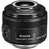 Canon Objektiv EF-S 35mm F2.8 IS Macro STM für EOS (Festbrennweite, 49mm Filtergewinde, Bildstabilisator, Autofokus), schwarz
