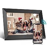 Digitaler Bilderrahmen 10 Zoll WLAN, Digitale Bilderrahmen IPS Touchscreen Eingebauter 16-GB-Speicher, Auto-Rotate, Teilen von Fotos/Videos über Frameo APP oder SD-Karte von überall (10.1'')