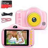 VATENIC Kinder Digital Kamera Spielzeug Kleinkind Kamera Spielzeug Mädchen Jungen Geschenke Selfie Wiederaufladbare Fotokamera Spielzeug 3.5 Zoll 1080P mit 32GB TF Card für 3 bis 12 Jahre
