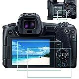 Displayschutzfolie Schutzfolie für Canon EOS R + OBEN,ULBTER 9H Härte LCD Gehärtetes Glas,[2+2 Stück]
