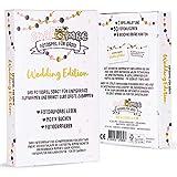 Fotospiel Hochzeit | snaPmee Deluxe Wedding Edition | 50 Fotoaufgaben | Eisbrecher Hochzeitsspiel für Gäste | Sofortbild-Kamera, Fotobox, Einwegkamera | Gästebuch, Fotoalbum Accessoire