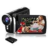 HG5250 Digital Video Camcorder 1080P 12MP FHD 270 Grad drehbare Bildschirm Videokamera für Kinder/Anfänger/ältere Menschen