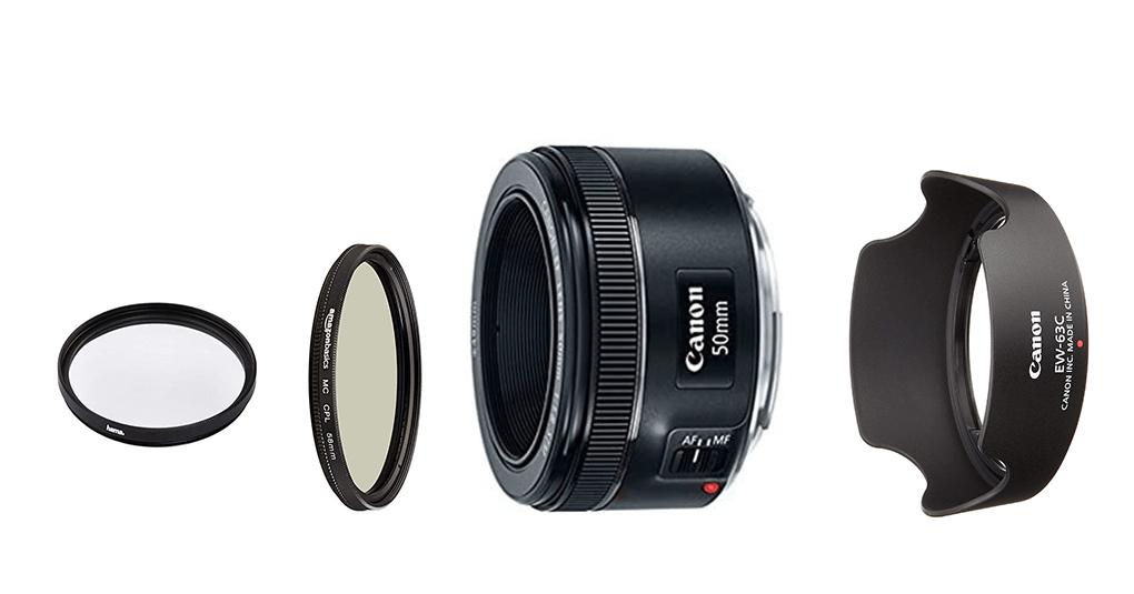 Canon EF 50mm 1.8 Zubehör und Filter