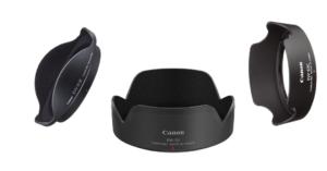 Gegenlichtblenden für Canon DSLR und Systemkameras