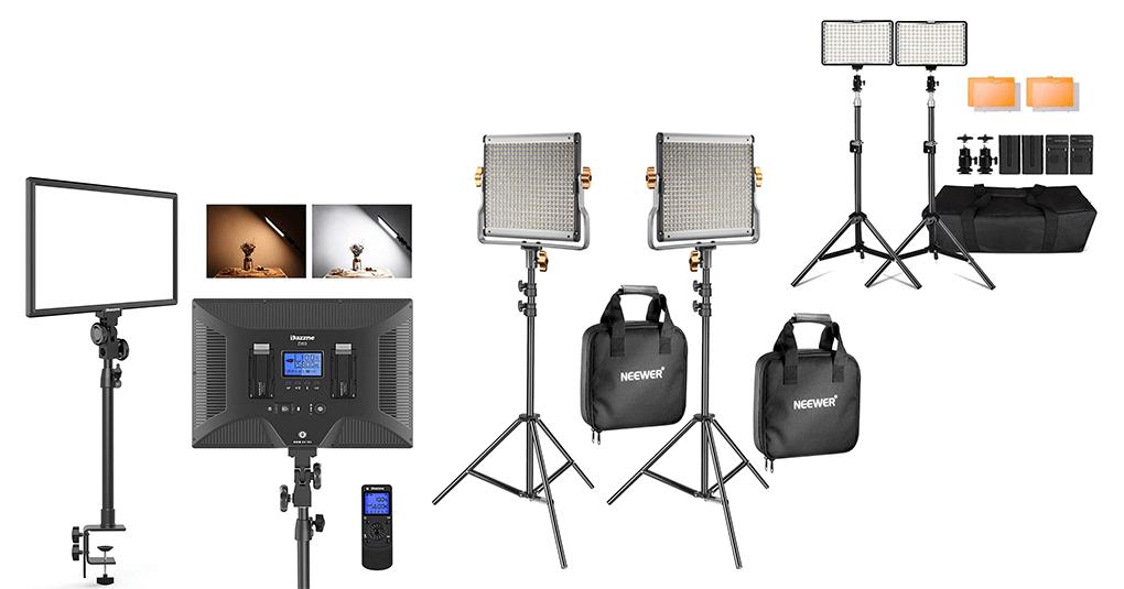 Foto- und Videoleuchte mit Akkubetrieb