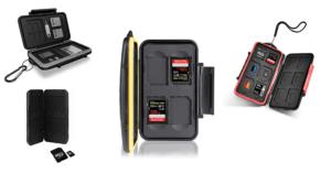 Etuis und Aufbewahrungsboxen für SD-Karten