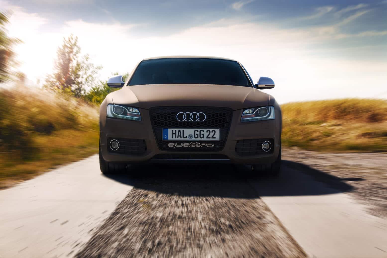 Audi S5 auf einem Felweg Sommer 2015. Erik Draeger Photography