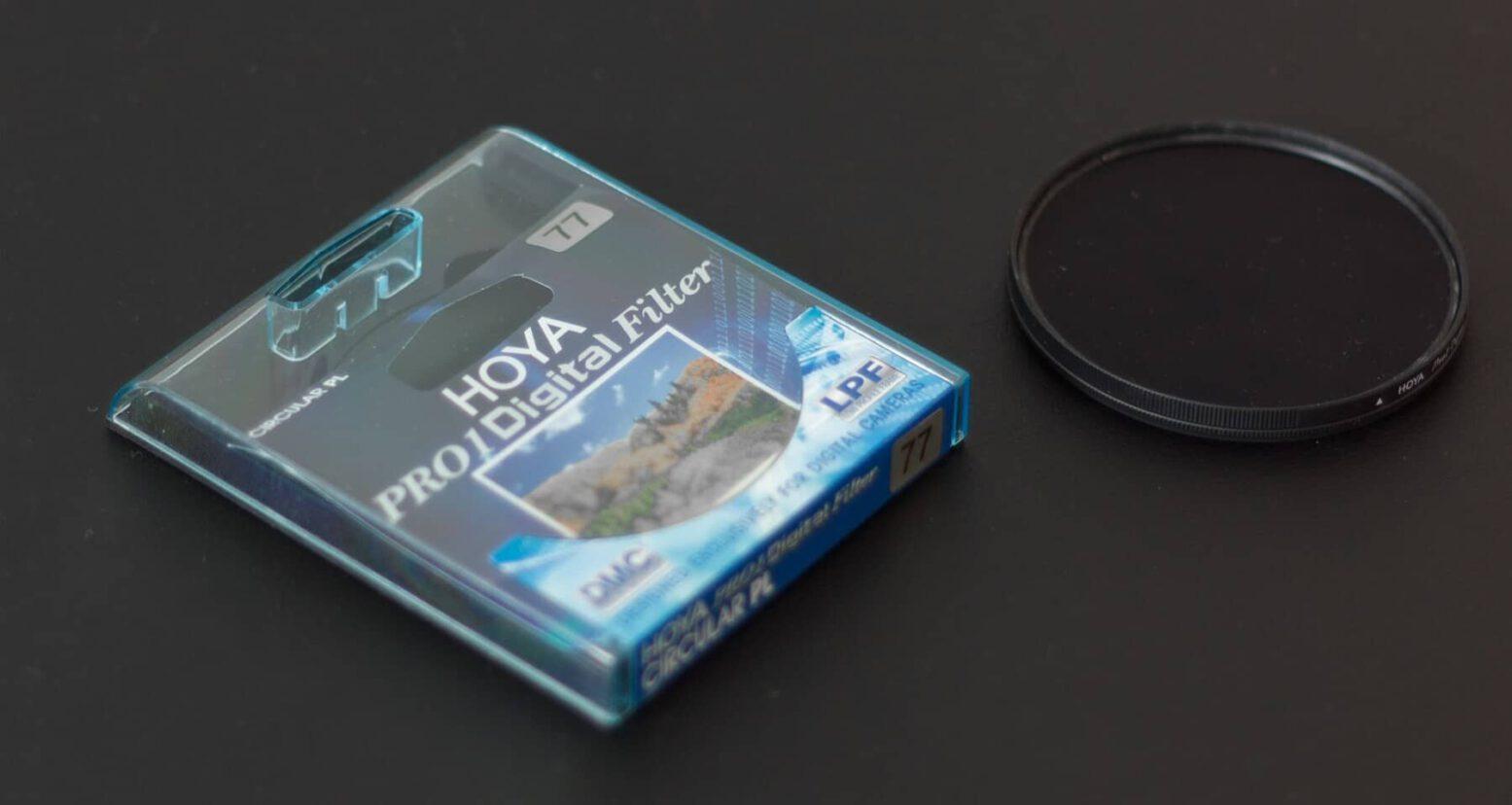 Ansicht und Verpackung des Hoya Pro 1 Polarisationsfilter