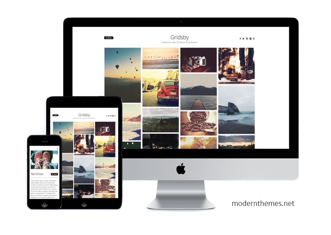 Screenshot Gridsby WordPress Theme von modern.net