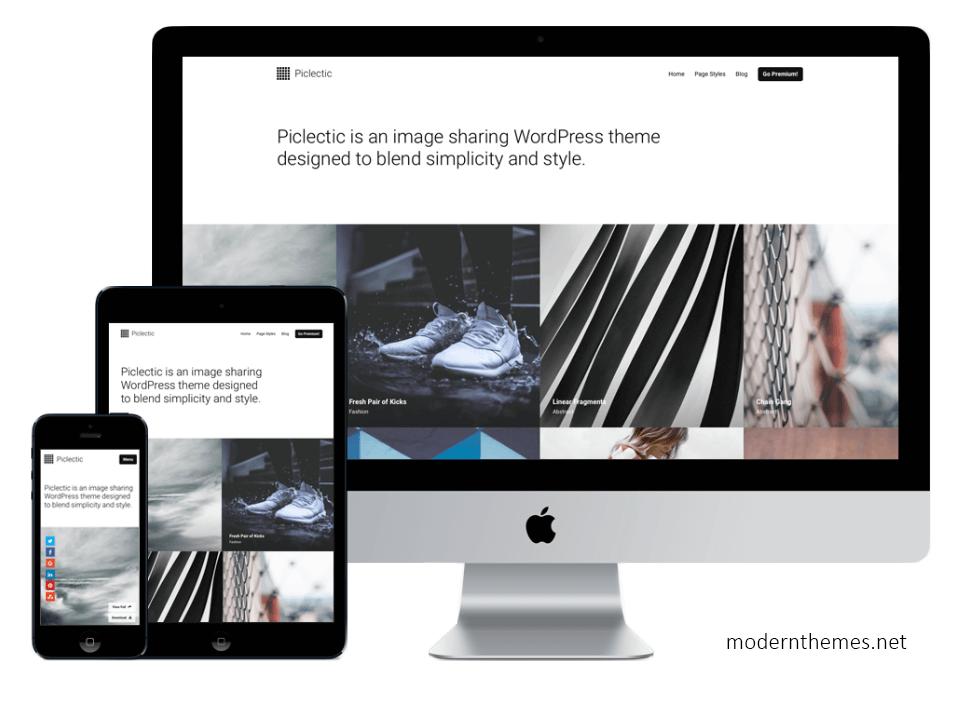 Screenshot Picletic Theme von modern.net