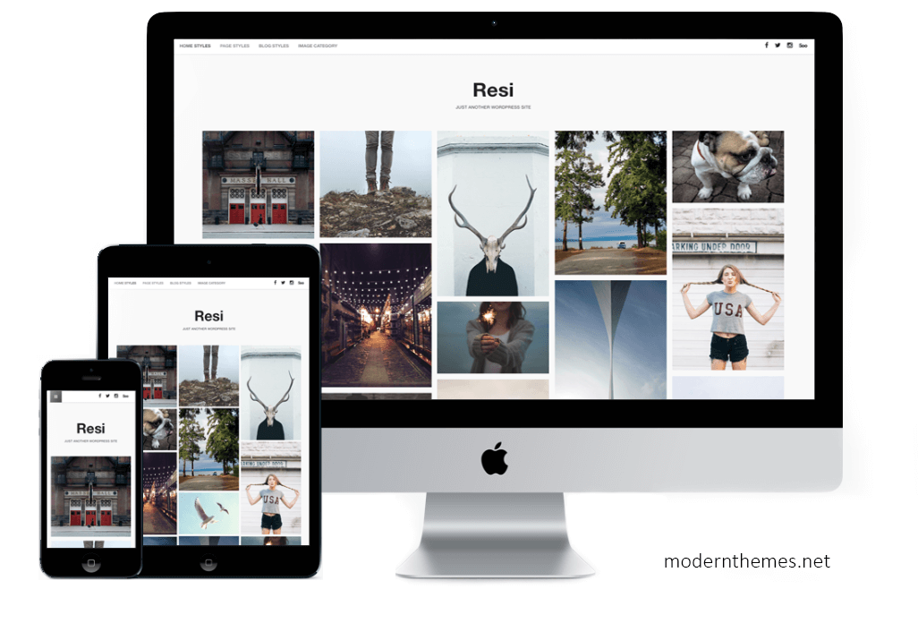 Screenshot Resi WordPress Theme